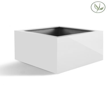 Amsterdam Low Cube L (80x80x60) glanzend wit
