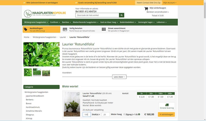 Het aantal haagplanten dat u nodig heeft hangt af van een aantal factoren: